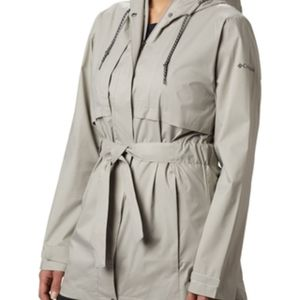 Columbia Pardon My Trench Womens Small - Grey